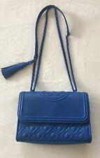 Tory Burch Fleming Matte Small Convertible Shoulder Bag in Mediterranean Blue