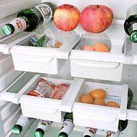 2er Set Kühlschrank Organizer Küche Aufbewahrungsbox Kühlschrankbox Dekobox Weiß