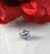 Sterling Silver   Retired  Pandora ALE  Airplane  Charm  CAT RESCUE