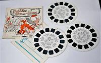 Vintage View-Master Stereoscope Reel Set of 3 Flintstones Pebbles & Bamm Bamm D1