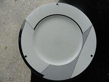 Christopher Stuart Angles Black Geometric Designs White Dinner Plate