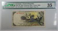 1948 Germany - Federal Republic 5 Deutsche Mark Note Pick# 13i PMG 35 Choice VF