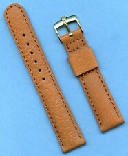 Gold Plated Rolex Tudor Buckle. 18mm Genuine Wild Boar Strap Band, Leather Lined
