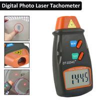 NEU Digital Laser Tachometer LCD Tacho Foto Berührungsloser Drehzahlmesser DE