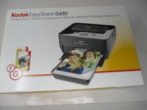NEW  Kodak EasyShare G610 Printer Dock  Complete In Box  Never Used