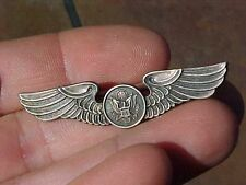 ORIGINAL WWII SHIRT SIZE USAAF AIRCREW WINGS / INSIGNIA  - STERLING - BALFOUR