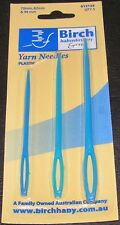 3 Plastic Yarn Needles Bodkins Big Eye Size 70 82 94mm Birch Sturdy Quality Blue