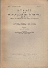 ANNALI DELLA SCUOLA NORMALE SUPERIORE DI PISA SERIE II VOL XXXVIII (1969) I-II
