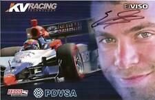 2010 EJ VISO signed INDIANAPOLIS 500 INDY CAR PHOTO CARD POSTCARD PDVSA HONDA