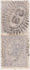 (Po4)1897 QLD 2d Blue Pair Post No.23 4R RRRR Cancelx2