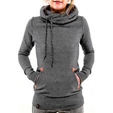0e3994bde657 Damen Hoodie Pullover Pulli mit Kapuze Sweater mit Tasche Fitness Jumper  Tops
