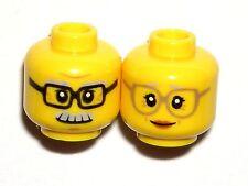 LEGO GRANDMA GRANDPA MINIFIGURE HEADS Old/Man/Lady/Yellow/Glasses