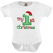 My 1st Christmas Baby Vest, My First Christmas Baby Present Xmas Bodysuit 7.0