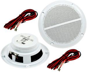 2 Marine Lautsprecher A64 für Bad Sauna Feuchtraum weiße Boxen Lautsprecher