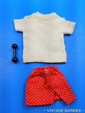 Ken Doll In Training #780 Shorts Shirt & Dumbbell MINTY ~ Vintage 1960's