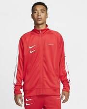 Nike Sportswear Swoosh Track Jacket Red White CJ4884-657 Men's NWT