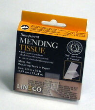 Lineco Transparent Paper and Book Mending Repair Tissue