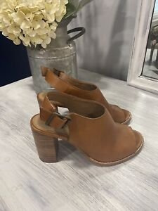 Madewell The Cary Sandal Heeled Amber Brown Size 5 Style #G1979