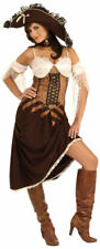 Pirate Wench Maiden Of The Sea 4Pc Br/Tan Dress & Sleevelets Sexy Costume Md