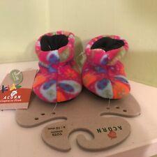 Acorn infants fabric soft multicolor slip on crib shoes size 6-12 months