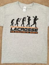 Evolution Of Lacrosse Youth Nwot Shirt Top Gray Sports L