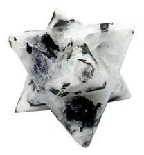 Rainbow Moonstone Merkaba Star Reiki Energy Charged Natural Crystal Healing