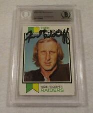 Fred Biletnikoff Signed 1973 Topps Football Card-Oakland Raiders-Beckett