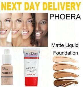 PHOERA NATURALLY FLAWLESS FULL COVERAGE SOFT MATTE LIQUID FOUNDATION OIL FREE
