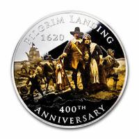 2020 2 oz Silver $2 400th Anniversary Pilgrim Landing - SKU#211916