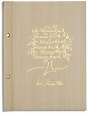 Din A4 Stammbuch der Familie Madai, Bergahornoptik, Goldprägung, Stammbücher