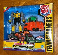 Transformers Cyberverse Power of the Spark Grimlock & Trash Crash Figure Set