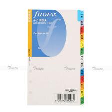 Filofax Personal A Z Index Multi Colored 2 Letters Per Tab Insert Refill 131608