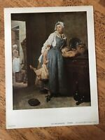 Chardin  - The Housekeeper Vintage Print