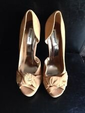 Ladies Platform Stilettos By Atmosphere Size 6 Camel Suedette <R13592