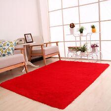 Fluffy Rugs Anti-Skid Shaggy Area Rug Derco Living Room Bedroom Floor Mat Carpet