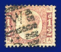 1870 SG49 ½d Rose Plate 4 RA London NW/5 Deep Shade Good Used CV £28 avzm