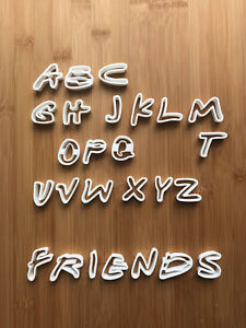 Friends Alphabet Cookie Cutter Fondant Cake Decorating Mold UK
