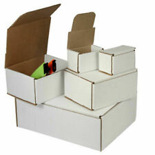 50 - 5x5x4 White Corrugated Shipping Mailer Packing Box Boxes 5 x 5 x 4
