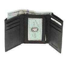Slim Men's Leather Trifold Small Wallet Black Credit Card Holder