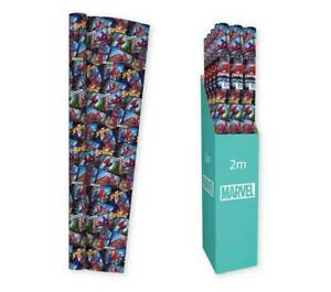 BUY 2 GET 1 FREE GIFT WRAP - MARVEL SPIDERMAN - 2m WRAPPING PAPER/ ROLL OF GIFT