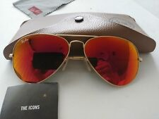 Ray-Ban 3025 Orange Mirrored Fash Green Aviator Sunglasses Gold 112/69 58014 2N