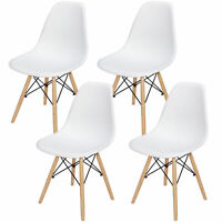 Set of 4 Chair Dining Chairs for Kitchen Bedroom Living Room Eiffel DSW Style