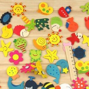 12PCS Novelty Gift Wooden Kitchen Fridge Magnet Cartoon Educational-Toy Ki5H7X