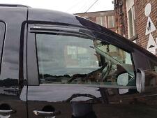 VW CADDY MAXI 04-16 WIND RAIN SMOKE DEFLECTORS VISORS EXTERNAL FIT