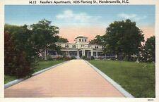 Fassifern Apartments Hendersonville, North Carolina - Old Vintage Linen Postcard
