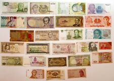 Assorted 25 Banknotes World Paper Money Foreign Currency Collections/Lots
