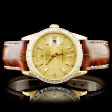Rolex 18K YG Day-Date Baguette Diamond Watch Lot 329