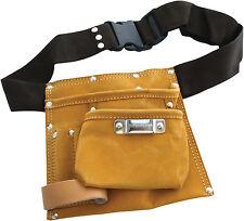NEW Am-Tech DIY Tools 6 Pocket Leather Tool Belt