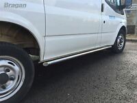 """To Fit 2007 - 2014 Ford Transit MK7 SWB 2"""" Stainless Steel Side Bars Tubes"""