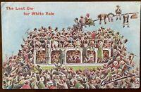 The Last Car to White Vale Glasgow Scotland Postcard Trams Cynicus